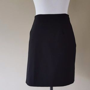 Theory Black Skirt Size 12 Made In USA
